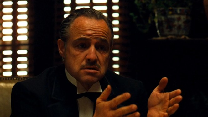 vito corleone as a language school owner