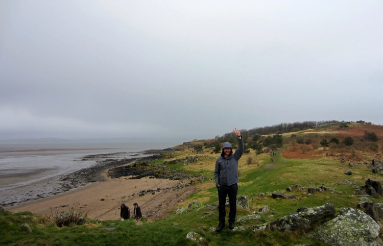 Cramond Island, Edinburgh. V for Victory, and V for Viento.