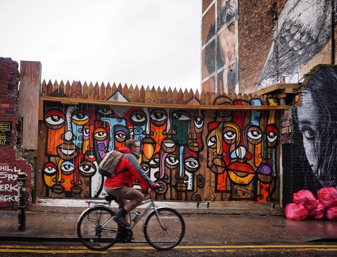brick lane london cyclist