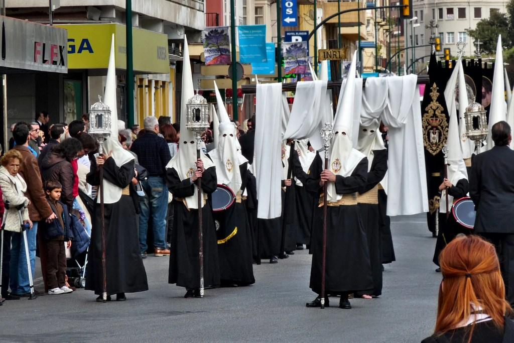 capirotes pointy hats holy week madrid spain