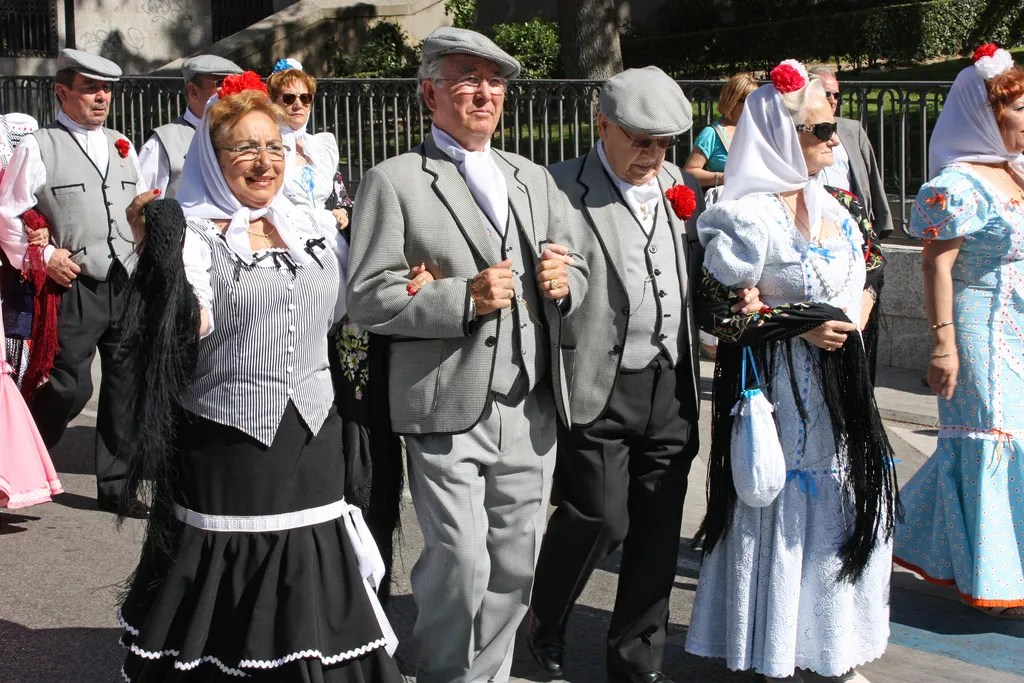 chulapos during the san isidro festival madrid