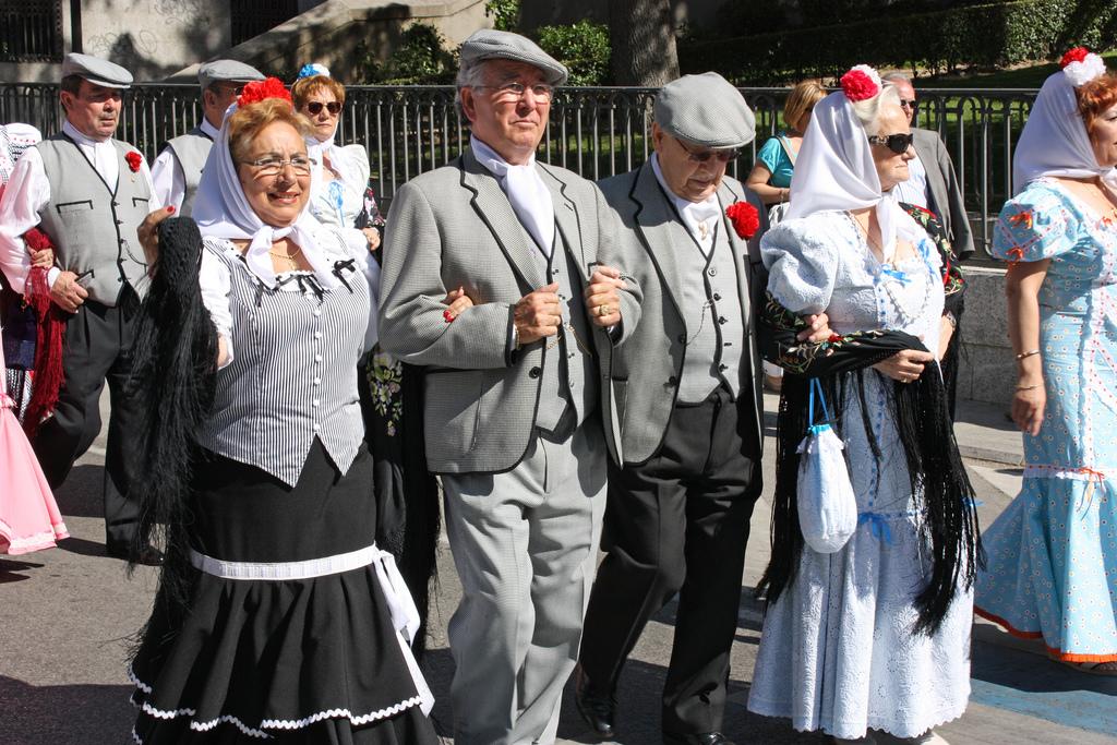 chulapos during the san isidro festival madrid