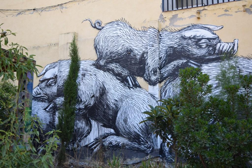 street art in madrid lavapies