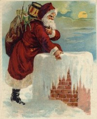 Santa Coming Down the Chimney