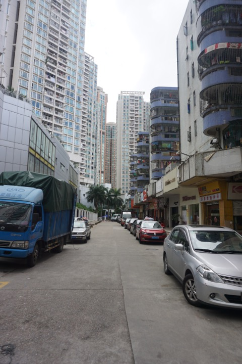Street lined with High-rises