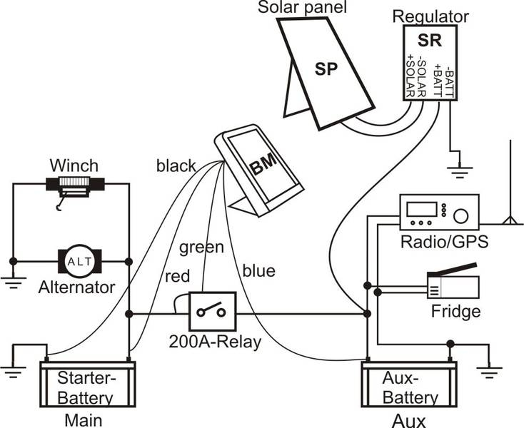 12 Volt Winch Switch Diagram Wiring Schematic