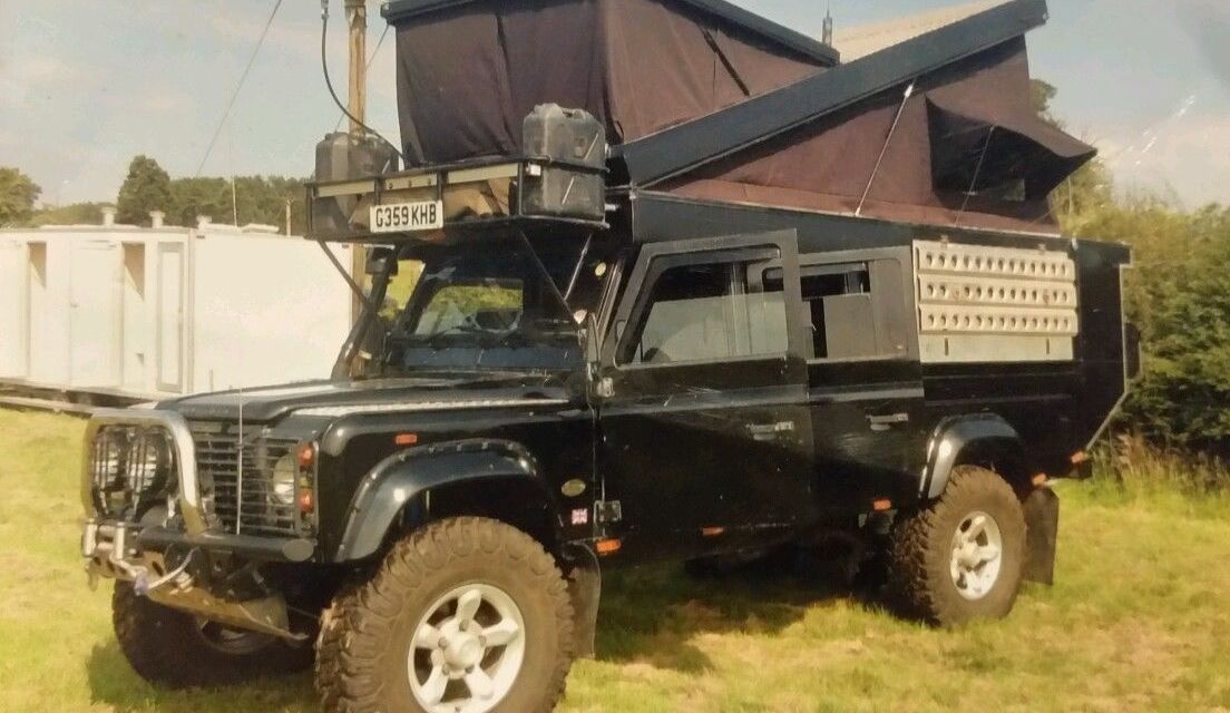 SOLD – Landrover Defender 130 expedition vehicle – pop top camper – uk