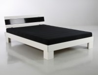 Jugendbett Ronja 140x200 wei schwarz Bett komplett + Rost ...