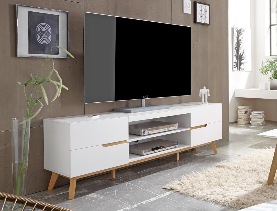 Lowboard Celio 1 wei Eiche 169x56x40 cm TVBoard TVMbel