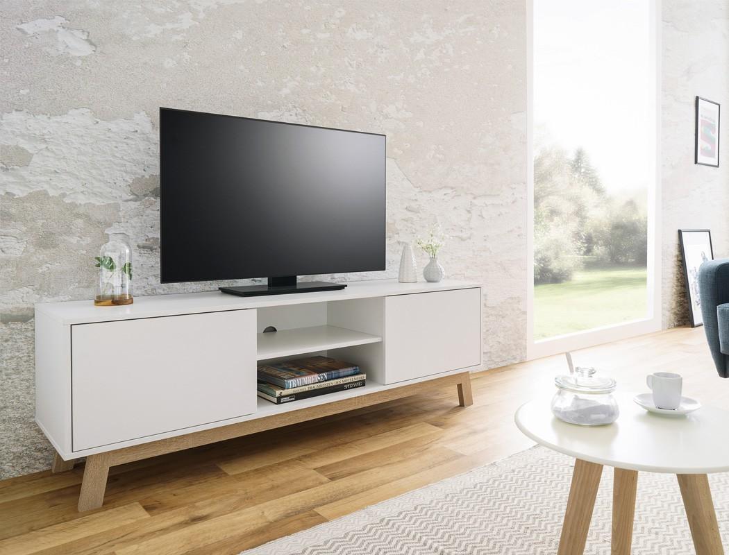 Lowboard Anzo 8 wei 150x50x40 cm TVBoard TVSchrank TVMbel Wohnbereiche Wohnzimmer TV