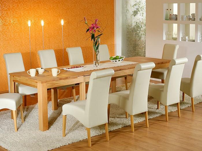 Esstisch 160310cm Kernbuche lackiert ausziehbar Holz Tisch massiv Allround XL  eBay