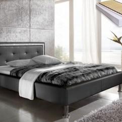 2 Sitzer Sofa Jugendzimmer Urban Home Bed Polsterbett Dave 140x200 Schwarz + Lattenrost Matratze ...
