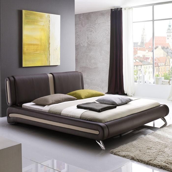 Polsterbett Komplett Malin Bett X Braun Lattenrost Matratze Bild