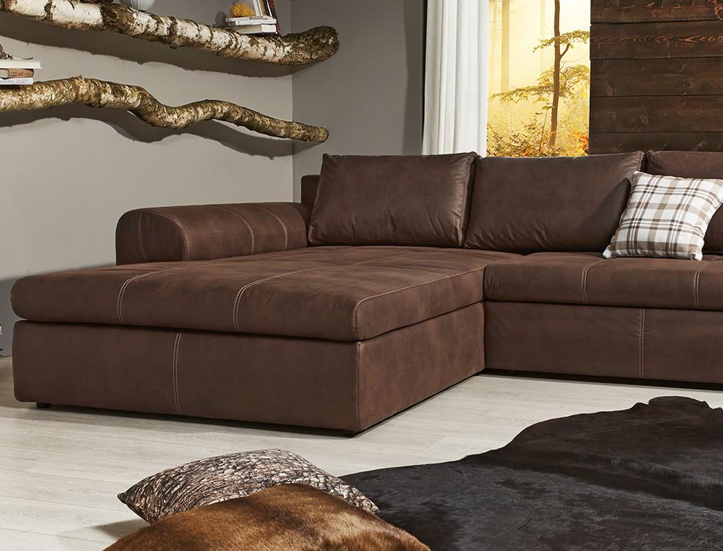 Wohnlandschaft 290x213 Sofa braun Couch Polsterecke Antiklederoptik Cassia  eBay