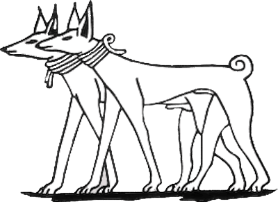Ancient Egyptian Dogs - Tesem Couple