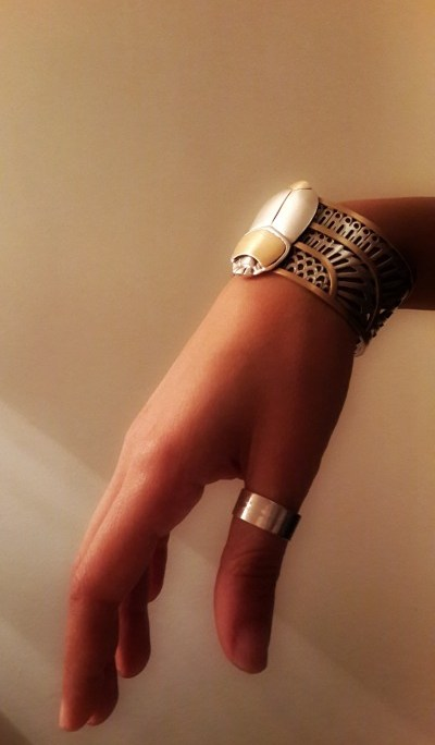 My Azza Fahmy Bracelet in the Winged-Scarab Ancient Egyptian Jewelry Style