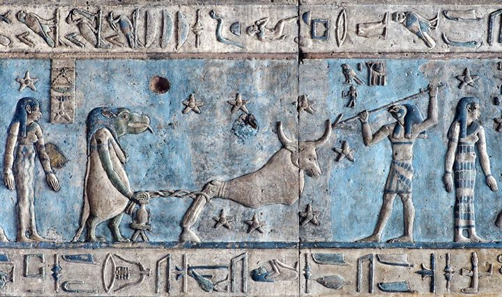 Hathor's Dendera Ceiling. Photo by: Olar Tausch