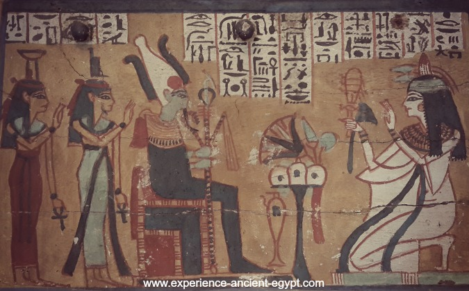 Egyptian God Osiris at Judgment