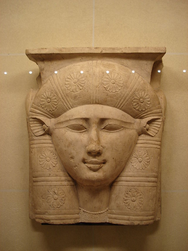 Phoenician Hathor Statue at the Louvre