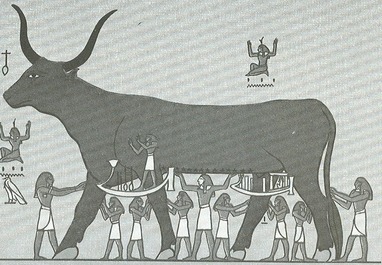 The Egyptian Goddess Nut as the Heavenly Cow