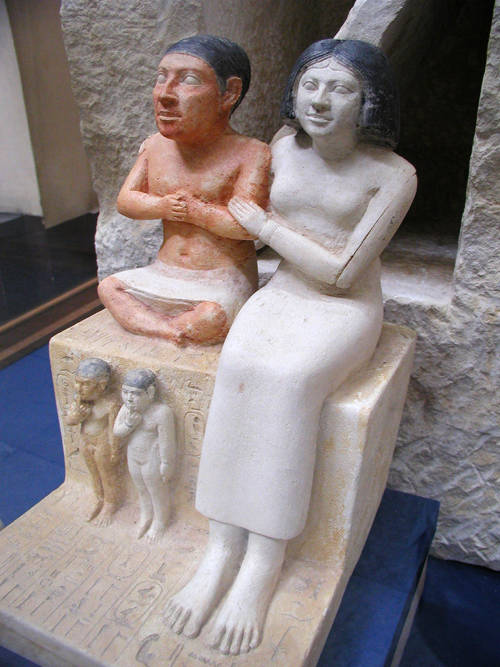 Ancient Egyptian Children with Family