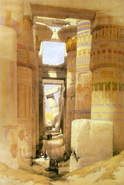 Ancient Thebes - Karnak by David Roberts