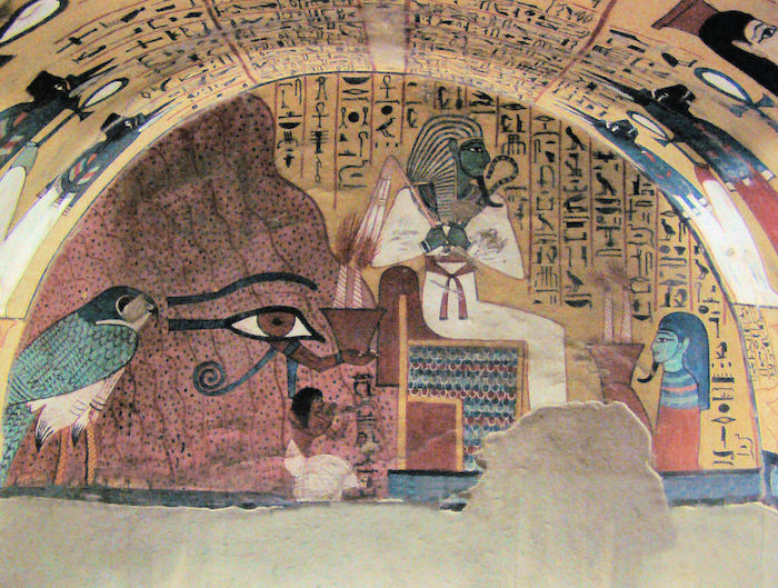 Egyptian Eye in Tomb of Pashedu