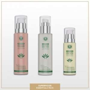PHB Superfood Skin Essentials 3pc Kit| Glow + Youth Boosting for All Skin Types