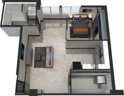1 Bed / 1 Bath / 685 sq ft / $300.00 / Rent: $1,550