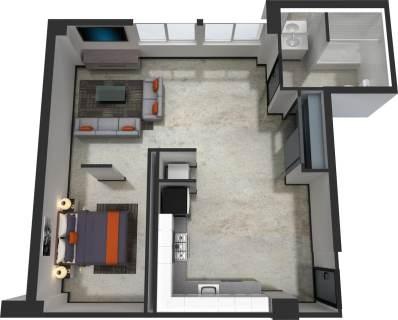 1 Bed / 1 Bath / 680 sq ft / $300.00 / Rent: $1,540