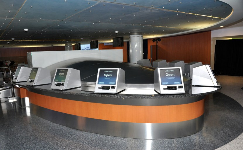 Alaska Airlines Check In Kiosks in Los Angeles International Airport