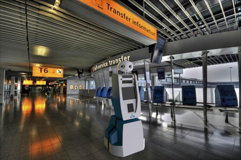 KLM Robot Spencer at Amsterdam Airport Schiphol