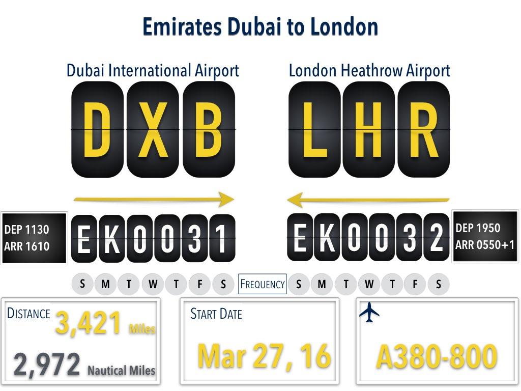 Emirates 31/32 Dubai to London Ninth Daily Flight