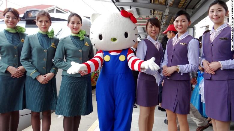 Taiwan Hello Kitty Train (Collaboration between Taiwan Railways Administration (TRA), Eva Air and Sanrio Taiwan)