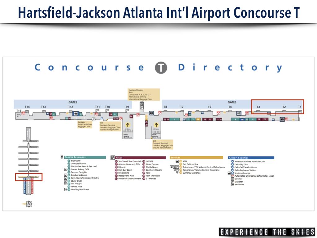 Hartsfield-Jackson Atlanta International Airport Concourse T Map
