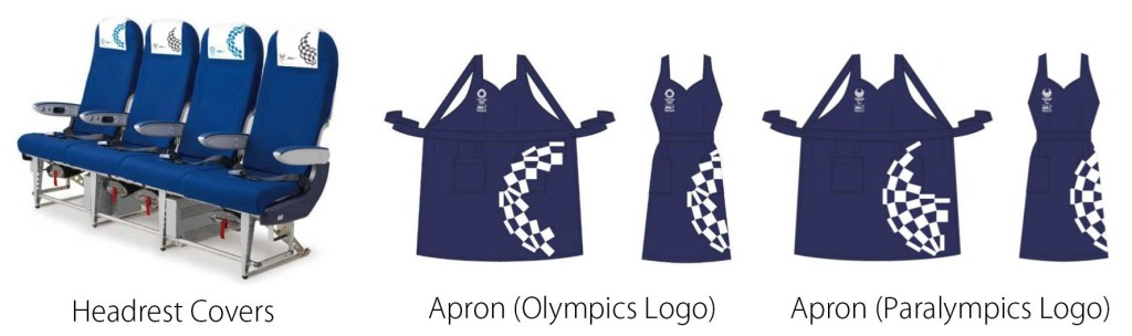 2020 Olympics and Paralympics themed headrest covers and aprons