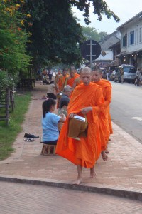 Alms Givign in Luang Prabang