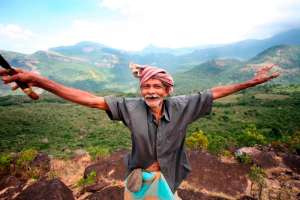 'Grandfather' celebrates his valley!