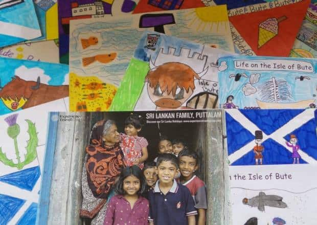 ETG Poster of Puttalam Family with Bute Island children's drawings, Scotland