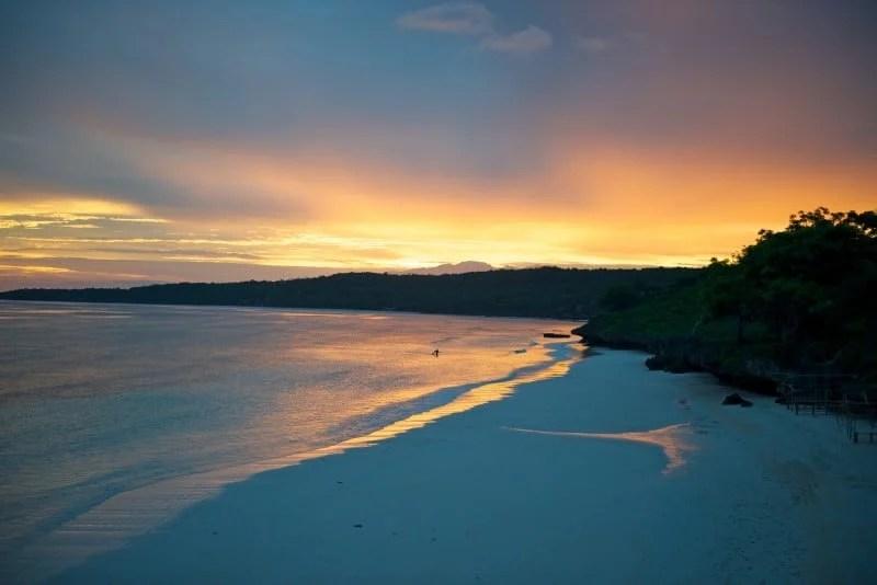 Sulawesi Bira Beach at Sunset