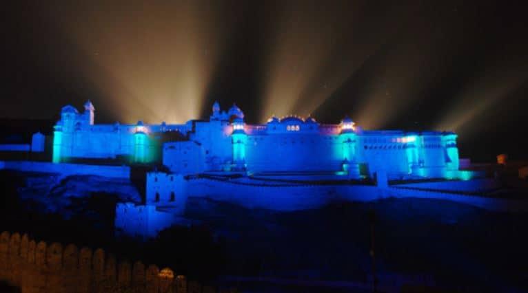 Jaipur lumiere show