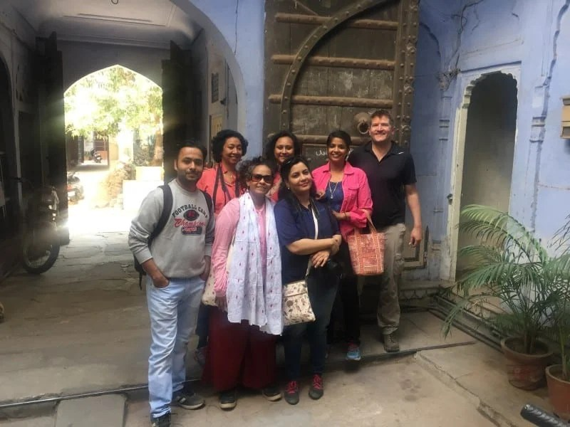 Robin with the local designers on his Jaipur walking tour