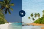Sri Lanka vs Maldives beach