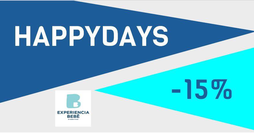 ¡Del 3 al 23 de octubre estamos de HAPPYDAYS en Experiencia bebé y Born To BE!