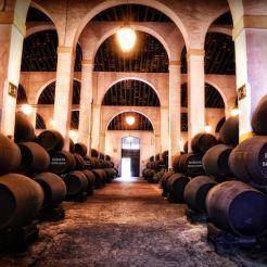 Botas centenarias en Bodegas Fundador en Jerez