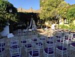 Exterior de una zona de banquetes del Cortijo de Frias en Jerez de la Frontera