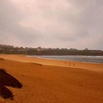Playa de la Concha en Suances al atardecer