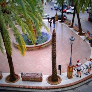 La Plaza de España en Vejer de la Frontera