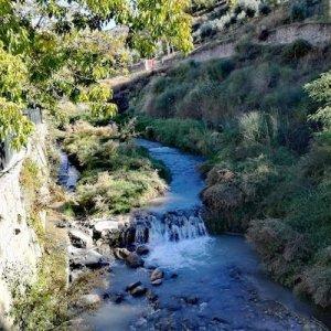 El Río Monachil en la provincia de Granada