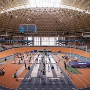 Campeonato de artes marciales en el Velódromo Luis Puig en Valencia